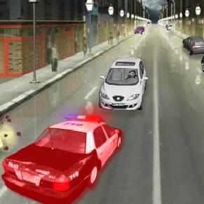 3D Racer 3: stolen police car